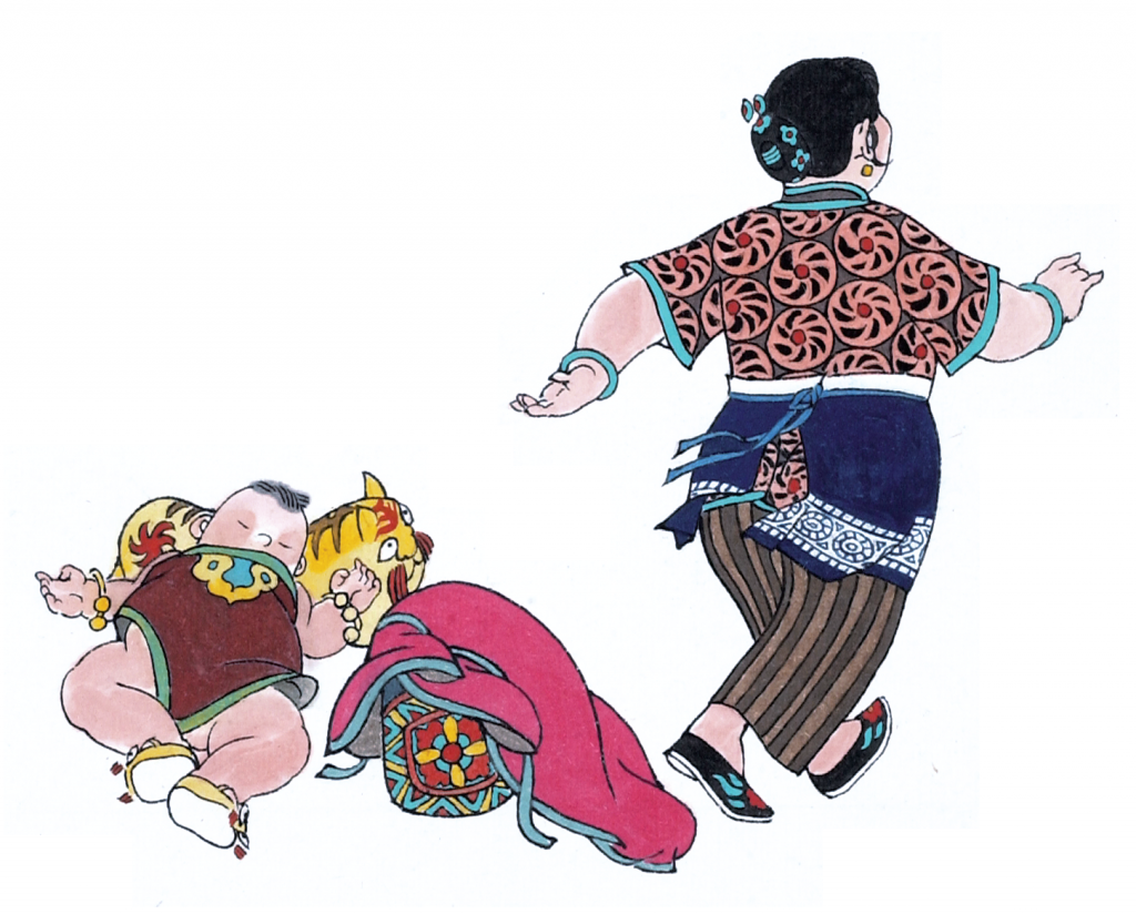 허둥지둥 뚱부인 ©우리나비